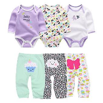 Bawełna ubrania dla niemowląt body i spodnie zestawy