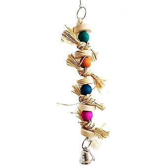 Bird Parrot Natural Straw Snap Scratch Toy