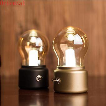 Винтаж привел лампы ночь свет ретро USB 5v перезаряжаемые батареи настроение светильник письменный стол настольные фонари портативные прикроватные лампы