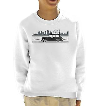 London Taxi Company TX4 Kör längs City Kid&s Sweatshirt