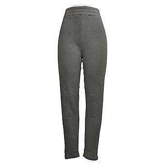 Cuddl Duds Plus Leggings Fleecewear Stretch Gray Jogger A369295