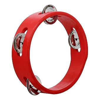 Tambourine Bell With Metal Single Row Jingles Educational Musical Toy