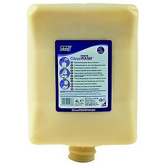Deb CIT4LTR Kresto 4 Litre Citrus Hand Cleaner Cartridge for Dispenser