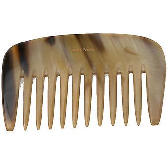 ハンス ・ Kniebes 髭櫛本物水牛の角広い歯 9.5 cm