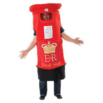 Orion kostuums Unisex Giant Red Postbox mail box nieuwigheid fancy dress kostuum