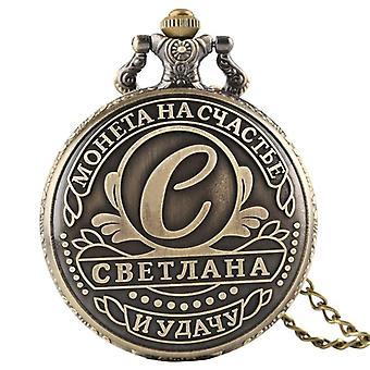 Ussr Ruble Replica Quartz Pocket Watch Collier Pendentif Collection