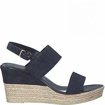 Navy Casual Wedge Sandals