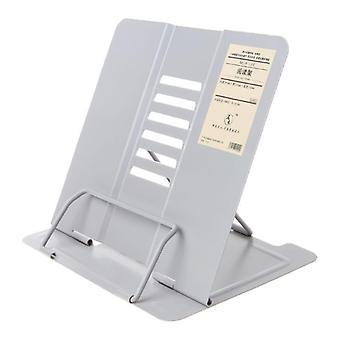 Portable Metal Adjustable Reading Book Holder & Support Document Shelf