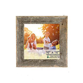 "10"" x 10"" Rustic Farmhouse Gray Wood Frame"