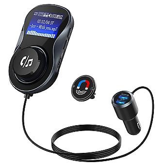 FM-modulator PNI Valentine F800 Bluetooth, MP3-spelare, FM-sändare, micro SD-kortplats, dubbel USB, QC3.0