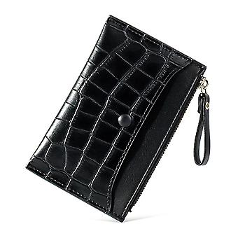 Ultra-thin multi-card slot pu card bag short ladies coin purse