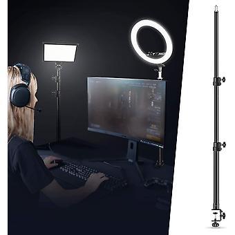 HanFei Tisch Lichtstativ Stativklammer mit 1/4 Zoll Schraube für Ringlicht und LED Licht,