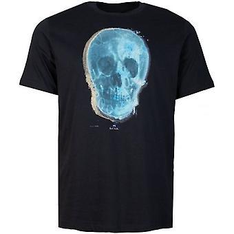 Paul Smith blå hodeskalle print kortermet t-skjorte