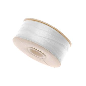 NYMO Nylon Beading Thread Size D for Delica Beads White 64YD (58 Meters)