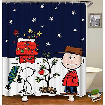Christmas With Charlie Brown And Snoopy Shower Curtain