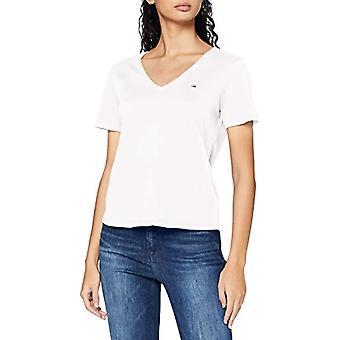 Tommy Hilfiger TJW Slim Jersey V Neck T-Shirt, White, XXS Women