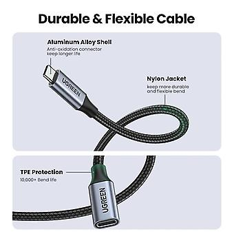 Black USB extension cable male to female Thunderbolt 3 for Nintendo Switch MacBook Pro Google Pixel