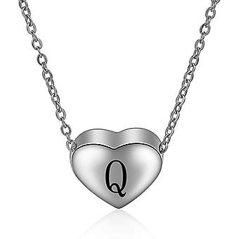 Sterling Silver Initial Necklace Letter Q