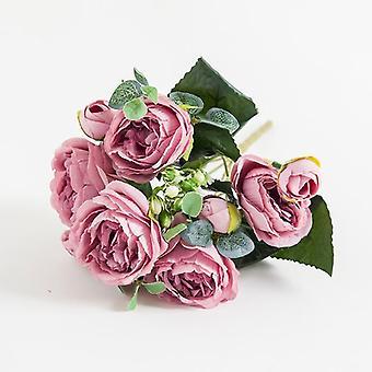 kunstige blomster, hoder silke peony bukett, falsk plante for diy, stue,