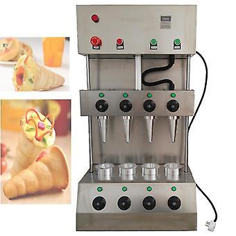 Máquina de cono de pizza de acero inoxidable, horno, fabricante de mano dulce
