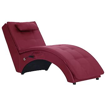 vidaXL massage chaise longue avec oreillers en simili-faux