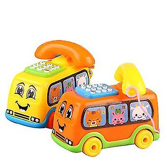 Yellow bus phone toy chatter telephone x4212