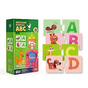 Alphabet cognitive matching puzzles children's educational paper puzzles dt5305