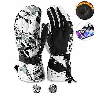 M grå * hvid vinter ski handsker varm foring vindtæt vandtætte snehandsker dt6241