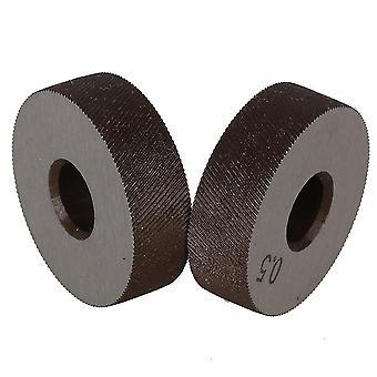 Pour 8x26mm Knurling Tool Diagonal Wheel Linear Knurl 0.5mm Pitch Set de 2 WS90
