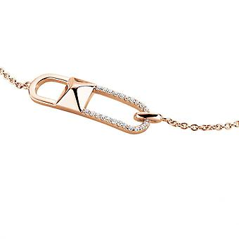 Bracelet Femme  Zeades LIEN VOYAGE Pav� RO - SBC01204 Argent Dor� rose