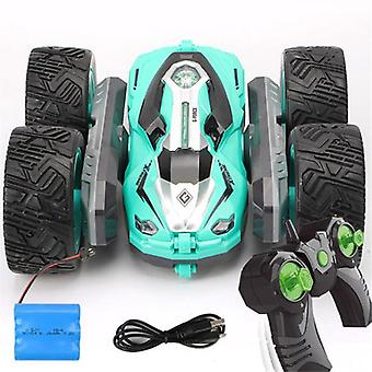 Free dropshipping 360 degree flip kids robot rc cars toys for gifts rc car 2.4g 4ch stunt drift deformation buggy car roll car