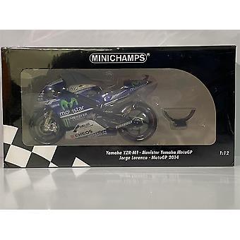 Minichamps 122143099 Yamaha YZR-M1 Jorge Lorenzo MotoGP 2014 1:12 Scale