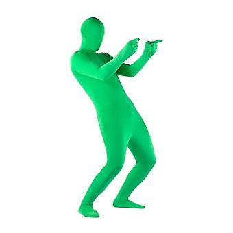 伸縮性のあるボディグリーンスクリーンスーツビデオクロマキー快適な背景目に見えない効果タイトスーツボディスーツコスプレ衣装