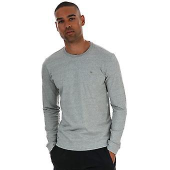 Herren Diesel Diego Langarm T-Shirt in Grau