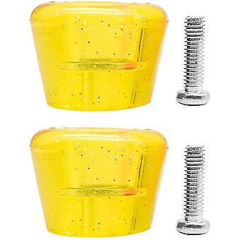 2 kpl rullaluistinvarpaat pu kumi rullaluistimet jarrulohko kestävä (keltainen)