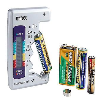 AA AAA 1,5V 9V Digitaalinen akkutestaaja Yleinen Akun kapasiteetti Testaaja Litiumakku virta suppl