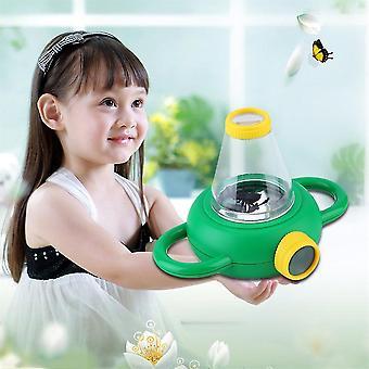Visualizador de observação de insetos de duas vias crianças lupa de brinquedo lupa