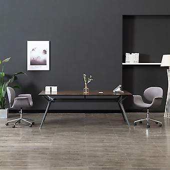 vidaXL Toimistotuoli Kääntö harmaa kangas