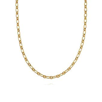 Daisy Stacked Linked Chain 18ct Gold Plate Necklace NB8008_GP