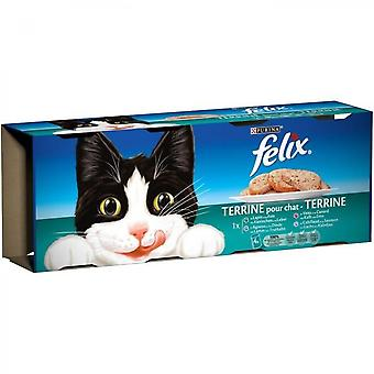 Felix Terrines - Meat And Fish - For Adult Cat - 4 X 400 G