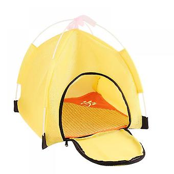 2-in-1 Self-warming Comfortable Triangle Cat Bed Pet Tent House
