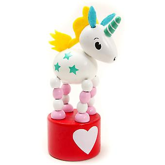 Rainbow Unicorn Push Up Toy - Cracker Filler Gift