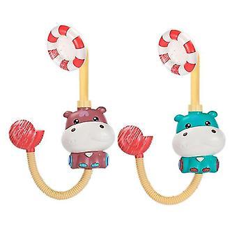 2pcs دش كهربائي الاستحمام Hippo لعبة