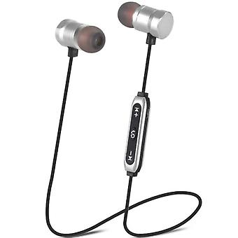 In Ear Wireless Headset Mini Magnetic Suction Band Microphone Neck Hanging M19 Bluetooth Headset