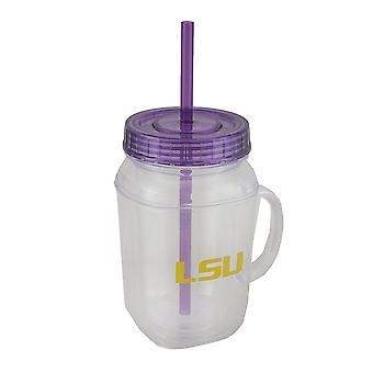 LSU Tigers 16 Unzen Einmachglas mit Stroh und Deckel