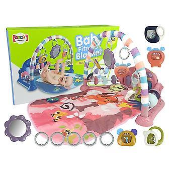 Babygym - Speelkleed met Rammelaars - Bijtring - en Geluid - Roze