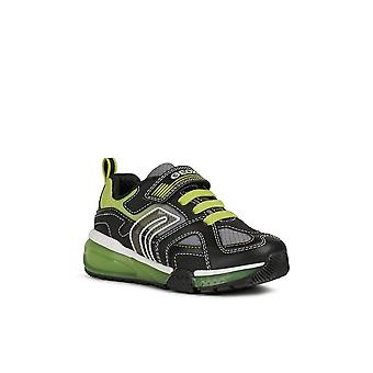 Geox Boys Bayonyc Leather Lined Trainers