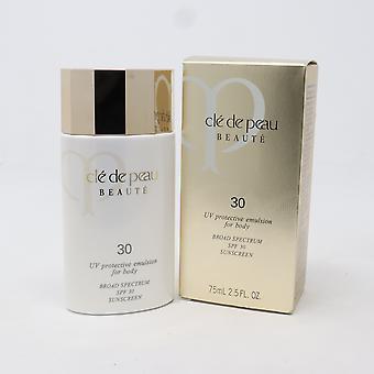 Cle de Peau Beaute Uv skyddande emulsion för kropp Spf 30 2.5oz ny med låda
