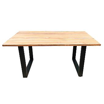 Tomasso's Caltanissetta Dining Table - Modern - Natural - Metal - 200 cm x 100 cm x 75 cm