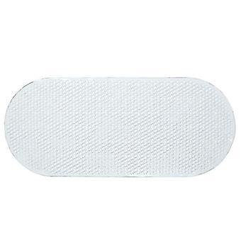 Liukumaton muovinen soikea kylpyamme suihkumatto, jossa kahva imukuppi(69 * 36cm)(Läpinäkyvä)